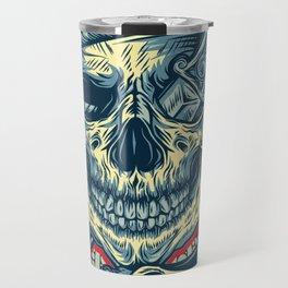 Rubino Logo Tattoo Skull Travel Mug
