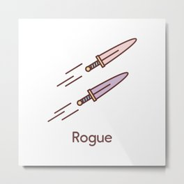 Cute Dungeons and Dragons Rogue class Metal Print