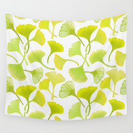 First Day of Autumn Ginkgo Leaves Wall Tapestry