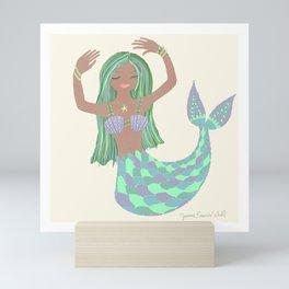 Mediterranean Mermaid  Mini Art Print