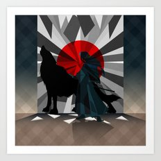 Spirit trapped in mirrors  Art Print