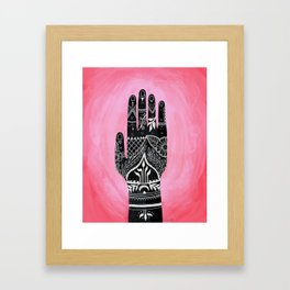 Mehndi Hand Painting Framed Art Print