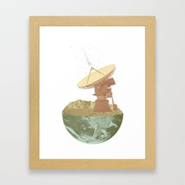 They're Out There Framed Art Print