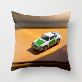 Carrera 911 Police POLIZEI english die cast car Throw Pillow