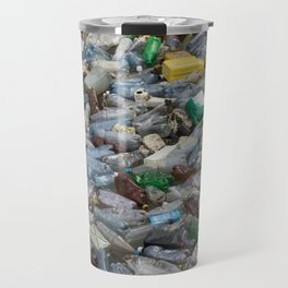 pollution by plastic bottles Travel Mug