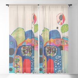 Blue Sun Sheer Curtain