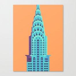 Chrysler Building New York Art Deco - Orange Canvas Print