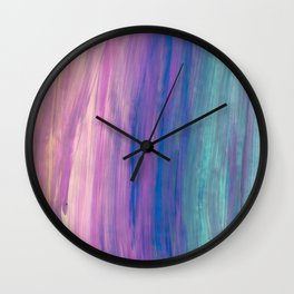 Lucky Stripes Acrylic Wall Clock
