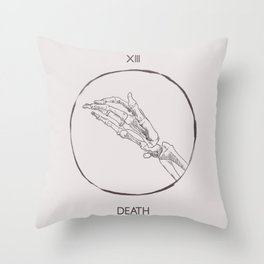 13 - The Death Tarot Card Throw Pillow
