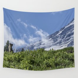 Marmot Checking Out His Neighborhood at Mount Rainier, No. 1 Wall Tapestry