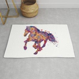 Running Stallion Silhouette Rug