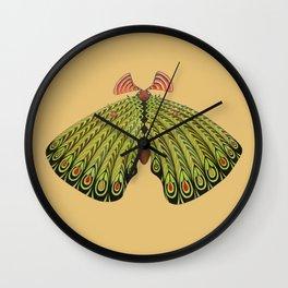 green moth (ORIGINAL SOLD). Wall Clock