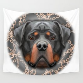 Rottweiler Chains, Rottweiler Print, Rottweiler Poster, Rottweiler Gift, Printable Art, Wall Decor Wall Tapestry