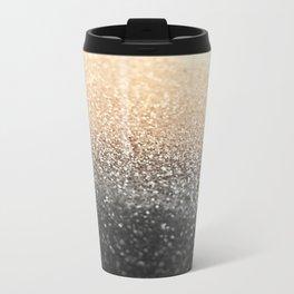 GOLD BLACK Metal Travel Mug