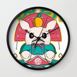Kagami mochi: the king of Japanese mochi Wall Clock