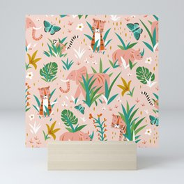 Endangered Wilderness - Blush Pink Mini Art Print