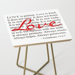 Love is Patient, Love is Kind. Side Table