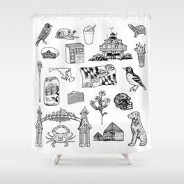 Maryland Flash Sheet Shower Curtain
