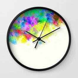 Paint Splashes Wall Clock