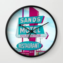 Sands Motel Retro Pop Art Wall Clock