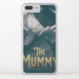 The Mummy, Boris Karloff, 1932 cult horror movie poster, vintage affiche Clear iPhone Case