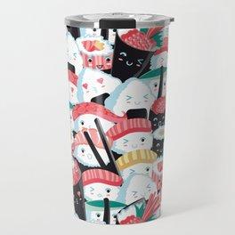 Kawaii Sushi Crowd Travel Mug