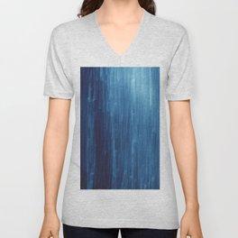 abstract blue rain Unisex V-Neck