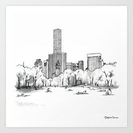 Sheep Meadow, Summer Art Print