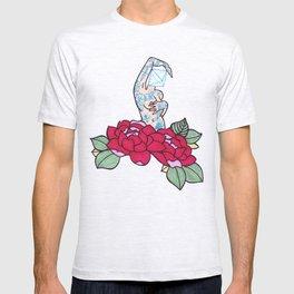 pin-up and roses T-shirt