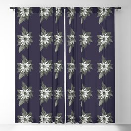 Florida Flower Navy Blue Background Blackout Curtain
