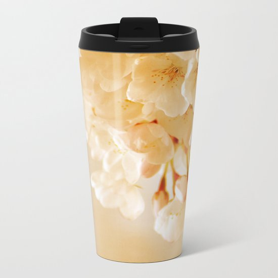 Pastel Blossoms Metal Travel Mug