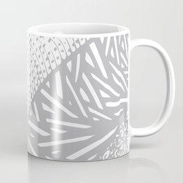 Free Hand Grey scale Doodle Design Coffee Mug