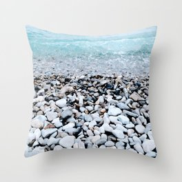 Cote d'Azur Waves Throw Pillow