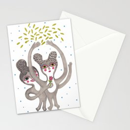 cute creatures feel the love Stationery Cards