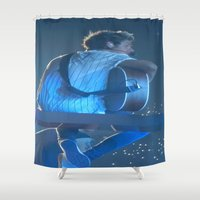 niall horan Shower Curtains featuring Niall Horan 3 by Halle