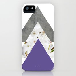 Ultra Violet Blossoms Arrows iPhone Case