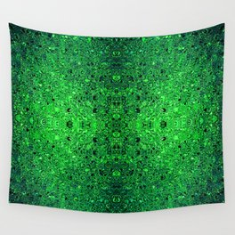 Deep green glass mosaic Wall Tapestry