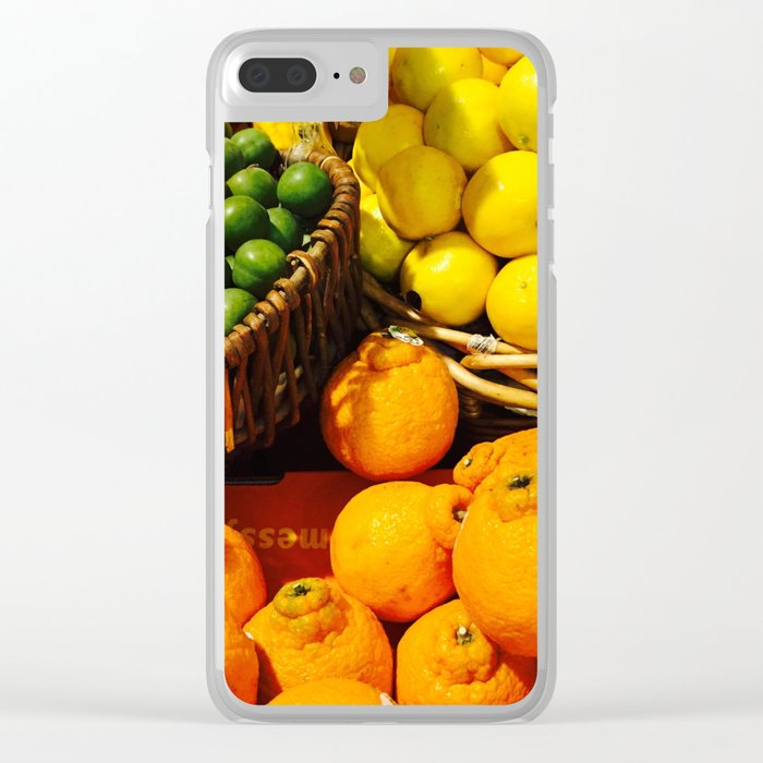 Baskets of Edibles Clear iPhone Case
