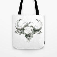 African buffalo sketch SK008 Tote Bag