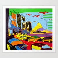 brazil Art Prints featuring Brazil by J.Victtor