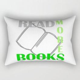 READ MORE BOOKS in green Rectangular Pillow