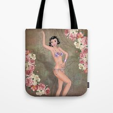 Burlesque pin-up Tote Bag