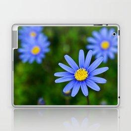 Blue Flower, Yellow Heart Laptop & iPad Skin