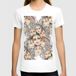 Watercolor Abstract Art Feminine Vibe, Energy, and Mystique T-shirt