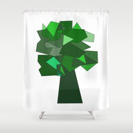 Geometric Tree Shower Curtain
