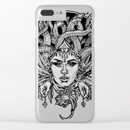 Medusa Mandala Clear iPhone Case