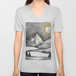 Golden Moon Unisex V-Neck