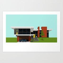 Mid Century House 4 Art Print