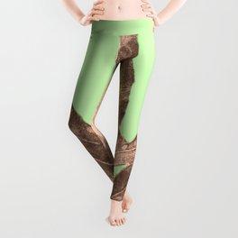 Antique Sepia Fall Green Leggings
