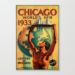 Chicago World's Fair 1933 Vintage Poster Canvas Print